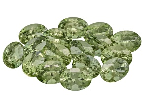 Green Apatite 7x5mm Oval Mixed Step Set 13.57ctw