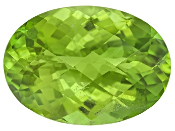 Picture of Peridot 16.8x12mm Oval Mixed Step Cut 10.41ct
