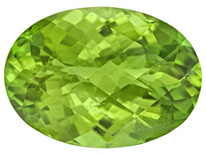 Peridot 16.8x12mm Oval Mixed Step Cut 10.41ct
