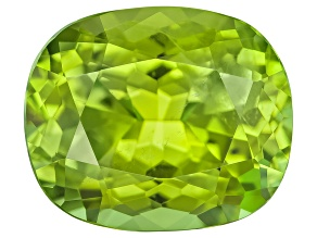Peridot 11.9x9.9mm Rectangular Cushion Mixed Step Cut 5.66ct
