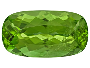 Peridot 15.7x8.6mm Rectangular Cushion Mixed Step Cut 6.77ct