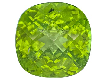Picture of Peridot 13mm Square Cushion Mixed Step Cut 9.19ct