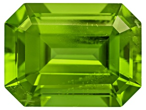 Peridot 11.9x9mm Emerald Cut 5.85ct
