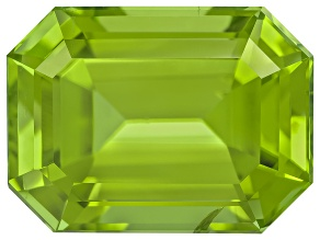 Peridot 11.6x8.6mm Emerald Cut 5.31ct