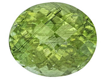 Picture of Peridot 14x12mm Oval Checkerboard Cut 9.54ct