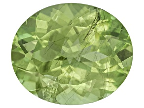 Peridot 12.6x10.6mm Oval Mixed Step Cut 5.50ct