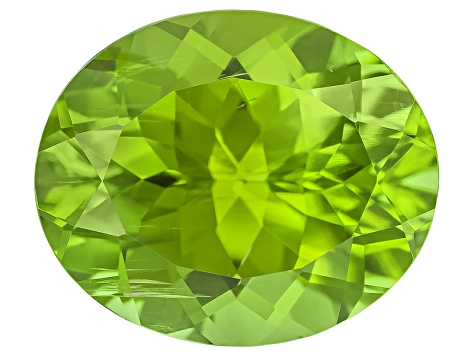 Peridot 11.55x9.62mm Oval Mixed Step Cut 4.87ct