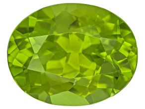 Peridot 12.5x9.8mm Oval Mixed Step Cut 5.31ct