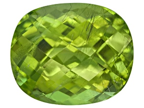 Peridot 12.5x10.4mm Rectangular Cushion Checkerboard Cut 7.08ct