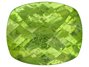Peridot 12.2x10.2mm Rectangular Cushion Checkerboard Cut 5.21ct