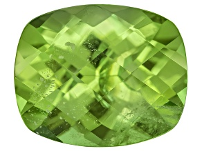 Peridot 11.5x9.5mm Rectangular Cushion Checkerboard Cut 4.80ct