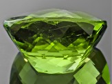 Peridot 11.8x10.38mm Rectangular Cushion Checkerboard Cut 6.19ct
