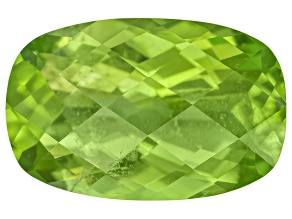 Peridot 14.5x9.45mm Rectangular Cushion Checkerboard Cut 6.19ct