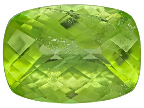 Peridot 14.5x10.5mm Rectangular Cushion Checkerboard Cut 7.56ct