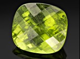 Peridot 13.1x11.9mm Rectangular Cushion Checkerboard Cut 9.30ct