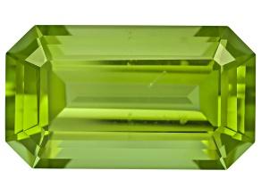 Peridot 14.13x8.2mm Emerald Cut 6.54ct