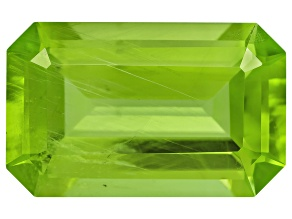 Peridot 13.48x8.42mm Emerald Cut 5.71ct