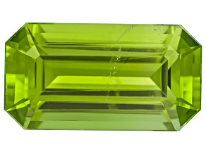 Peridot 15.39x8.4mm Emerald Cut 6.75ct