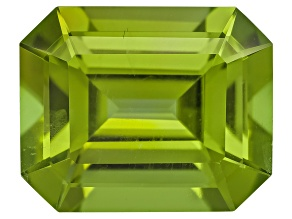 Peridot 10.5x8.5mm Emerald Cut 4.31ct