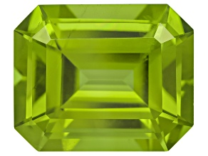Peridot 11.3x9.24mm Emerald Cut 5.67ct