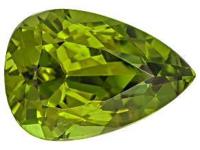 Peridot 15.6x10.8mm Pear Shape Mixed Step Cut 7.56ct