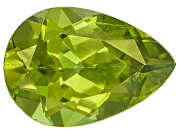 Picture of Peridot 13.4x9.5mm Pear Shape Mixed Step Cut 4.98ct