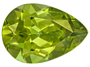 Peridot 13.4x9.5mm Pear Shape Mixed Step Cut 4.98ct