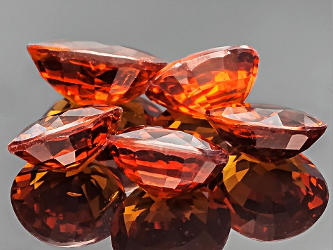 Nigerian Spessartite Garnet Set Of Five 6.10ct