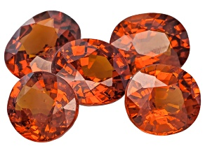 Nigerian Spessartite Garnet Set Of Five 6.28ct