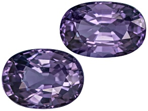 Purple Spinel Oval Mixed Step Set 4.41ctw
