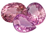 Pink Spinel Pear Shape And Oval Mixed Step Set 4.37ctw