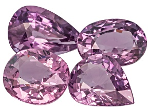 Purple Spinel Mixed Shape Mixed Step Set 7.60ctw