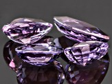 Purple Spinel Mixed Shape Mixed Step Set 6.84ctw