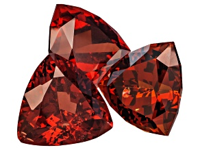Garnet 9mm Trillion Set 9.42ctw