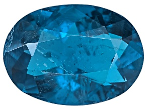 Dark Blue Afghanite-Fluorescent 8x5.5mm Oval 0.87ct