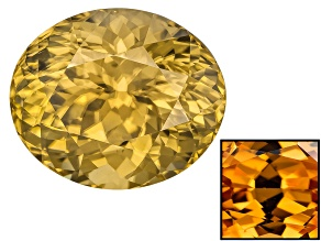 Yellow Zircon Thermochromic 14.70x12.39mm Oval 17.00ct