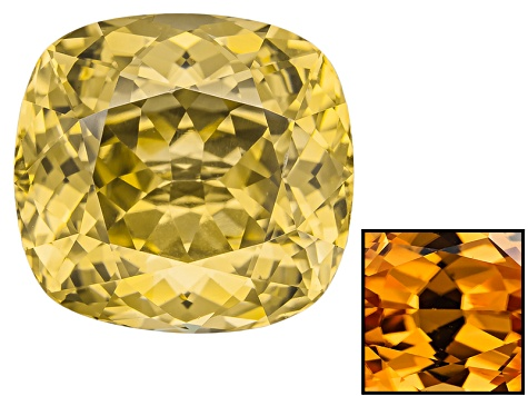 Yellow Zircon Thermochromic 11.66x10.97mm Oval 9.82ct