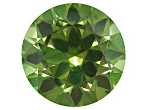 Garnet Demantoid With Horsetail 7mm Round 1.80ct