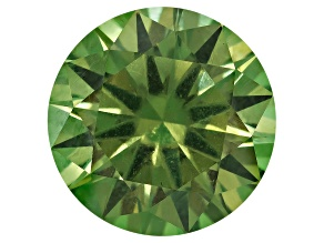 Garnet Demantoid With Horsetail 7.3mm Round 1.74ct