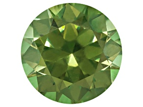 Garnet Demantoid With Horsetail 7.4mm Round 1.98ct