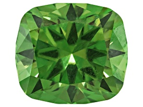 Demantoid Garnet With Horsetail 6.88x6.20mm Rectangular Cushion 1.52ct