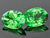 Garnet Tsavorite 7.7x5.8mm And 7.7x5.9mm Oval Matched Pair 2.48ctw
