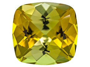 Yellow Tourmaline 11.5x11.17x7.17mm Square Cushion 5.65ct
