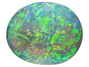 Black Opal 10x8.5mm Oval Cabochon 2.89ct