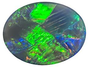 Black Opal 13.5x10.5mm Oval Cabochon 3.47ct
