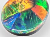 Black Opal 13.5x10.5mm Oval Cabochon 3.47ct