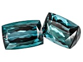 Blue indicolite 9.3x13.5mm Octagonal 17.43ct Matched Set