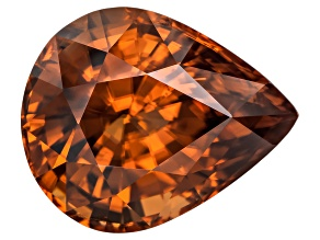 Copper Color Zircon 17.85x14.50mm Pear Shape 22.35ct