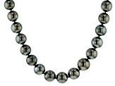 14k wg 12-14.5mm cultured tahitian pearl/wht dia acc strand necklace