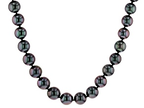 14k wg 9-11.5mm cultured tahitian pearl strand necklace